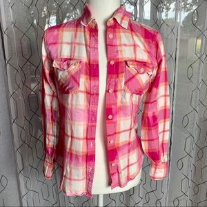 American Eagle Favorite Fit Button Down Top Small